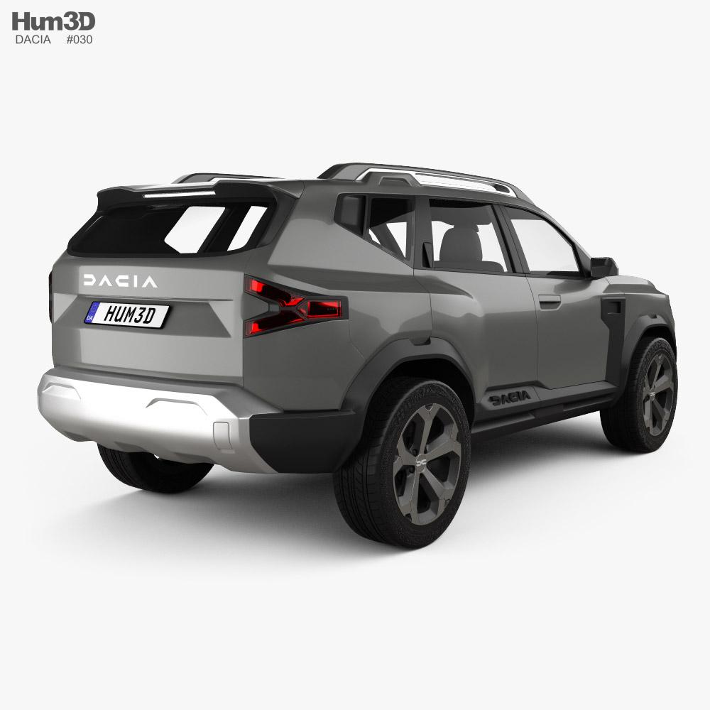 Dacia Bigster 2021 3d model back view