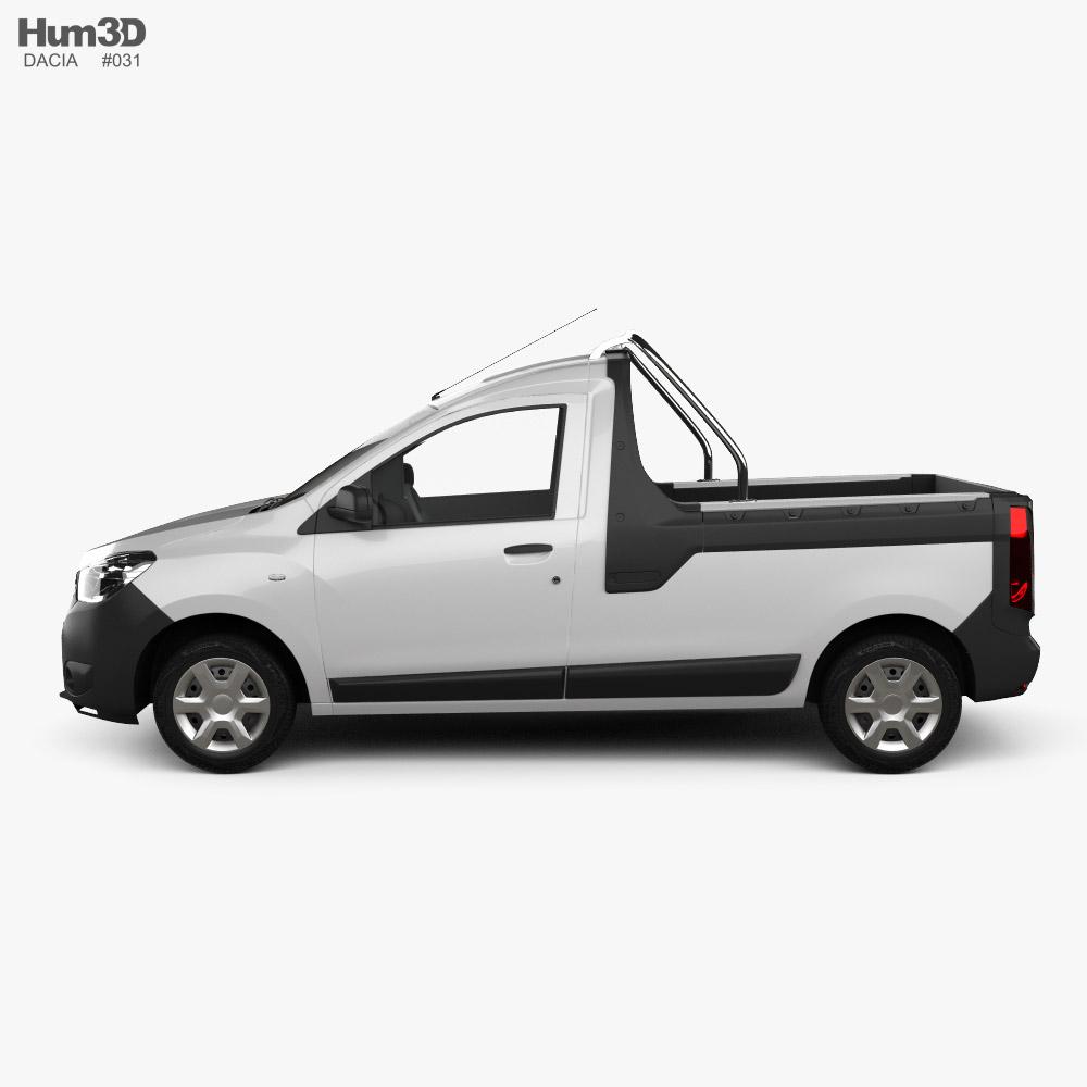Dacia Dokker PickUp 2017 3D model