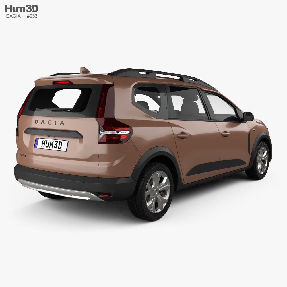 Dacia Jogger 2021 3d model back view