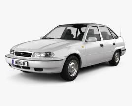 Daewoo LeMans (Nexia, Cielo, Racer) sedan 1996 3D model