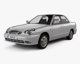 3D model of Daewoo Nubira sedan 1999