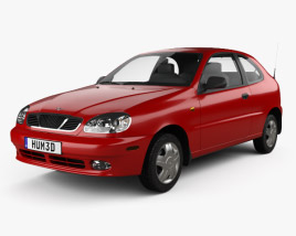 3D model of Daewoo Lanos 3-door 1997