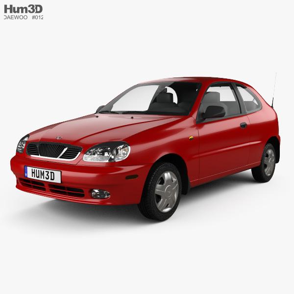3D model of Daewoo Lanos 3-door 1997