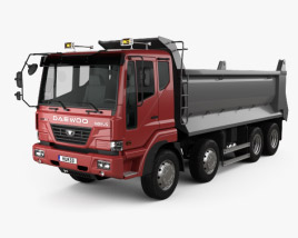 Daewoo Super Novus Tipper Truck 4-axle 2008 3D model