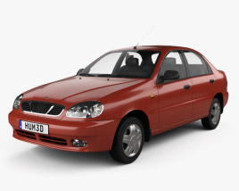 3D model of Daewoo Lanos (T100) 1998