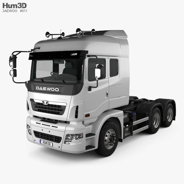 3D model of Daewoo Ultra Prima Tractor Truck 2008