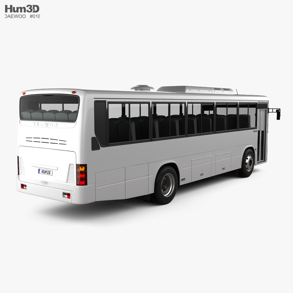 Daewoo BS106 bus 2021 3d model back view