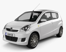 3D model of Daihatsu Mira (Cuore) 2011