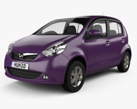 3D model of Daihatsu Sirion 2013