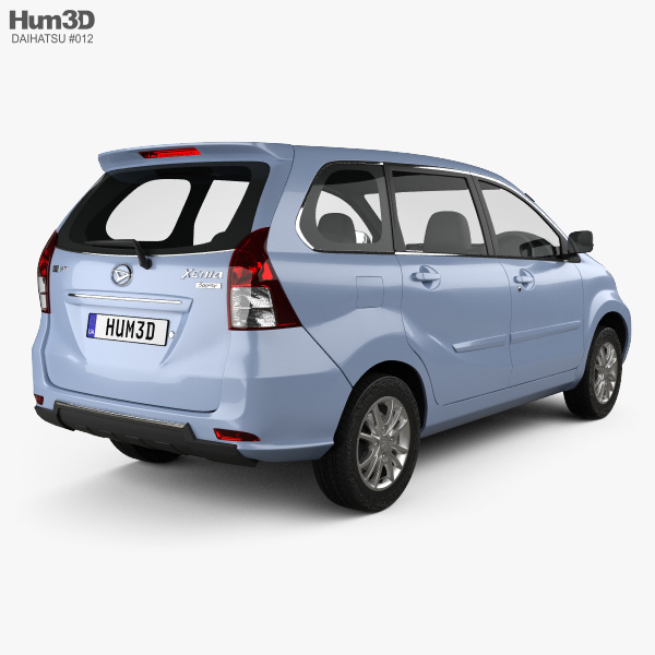 Daihatsu Xenia Sporty 2013 3D model