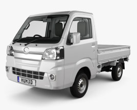 3D model of Daihatsu Hijet Truck with HQ interior 2014