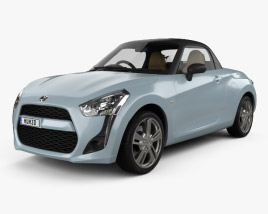 3D model of Daihatsu Copen Robe with HQ interior 2014