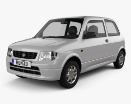 3D model of Daihatsu Mira 3-door 1998