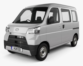 3D model of Daihatsu Hijet Cargo 2017