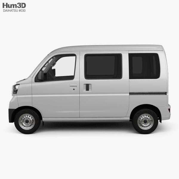 Daihatsu Hijet Cargo with HQ interior 2017 3D model