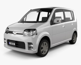 3D model of Daihatsu Move Custom 2004