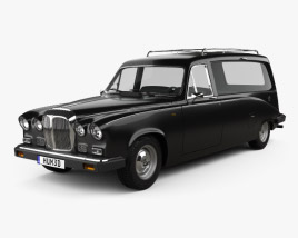 3D model of Daimler DS420 Hearse 1987