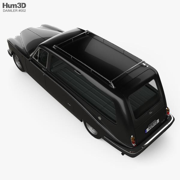 Daimler DS420 Hearse 1987 3D model