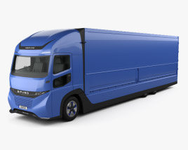 3D model of Daimler E-Fuso Vision One Box Truck 2017