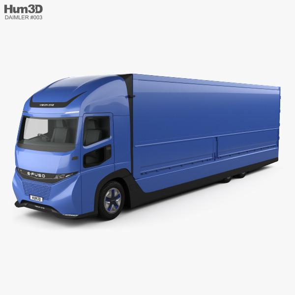 3D model of Daimler E-Fuso Vision One Box Truck 2017