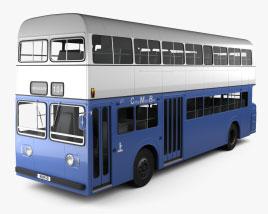 Daimler Fleetline CRG6 Double-Decker Bus 1965 3D model
