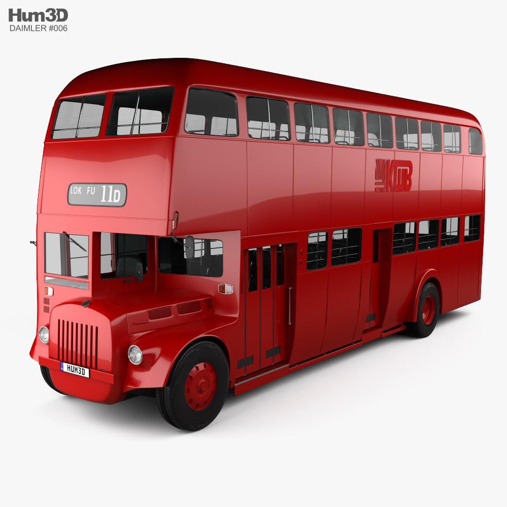 Daimler E Double-Decker Bus 1965 3D model