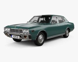 3D model of Datsun 280C sedan 1979