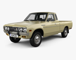 3D model of Datsun 620 King Cab 1977