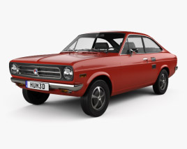 3D model of Datsun 1200 coupe 1970