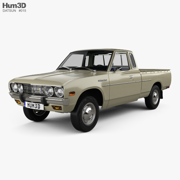 Datsun 620 King Cab with HQ interior and engine 1977 3D model