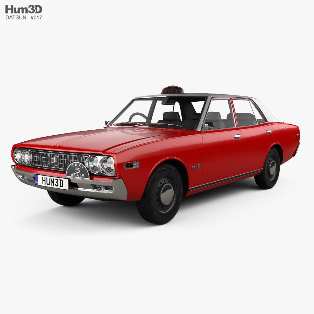 Datsun 220C Taxi 1971 3D model