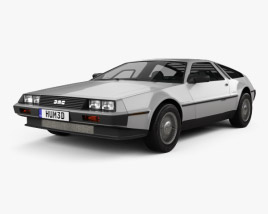 3D model of DeLorean DMC-12 1981