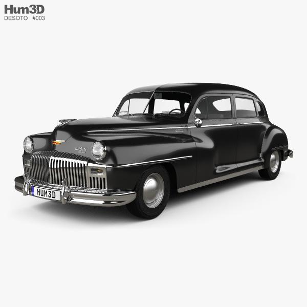 3D model of DeSoto Custom Suburban Sedan 1947