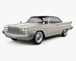 3D model of DeSoto Fireflite Hardtop Coupe 1960