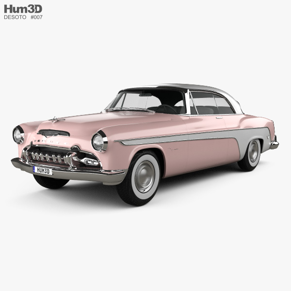 3D model of DeSoto Firedome Sportsman Hardtop Coupe 1955