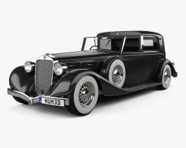 3D model of Delage D8 100 Coupe Chauffeur par Franay 1936