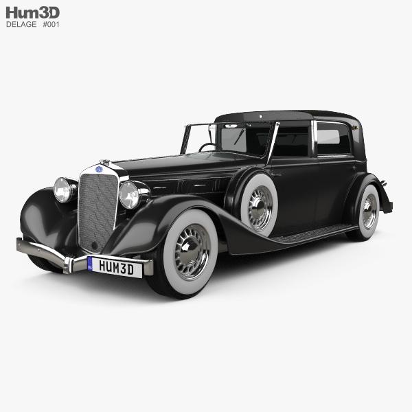 Delage D8 100 Coupe Chauffeur par Franay 1936 3D model