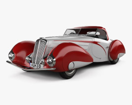 3D model of Delahaye 135M Figoni and Falaschi Convertible 1937