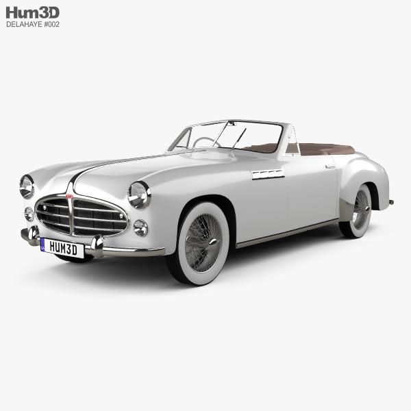 3D model of Delahaye 235 Chapron Cabriolet 1951