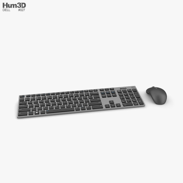 3D model of Dell Premier Wireless Keyboard and Mouse