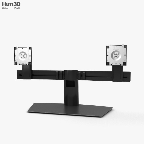3D model of Dell Dual Monitor Stand MDS19