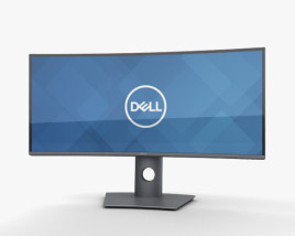 3D model of Dell 34-inch Curved Monitor U3419W