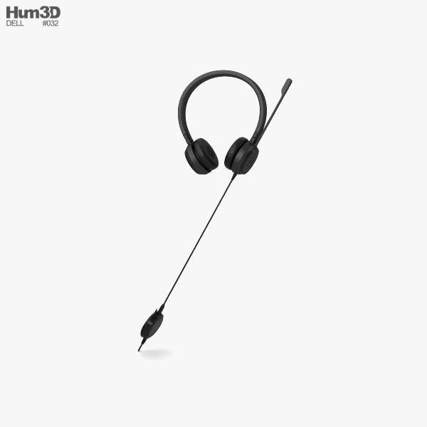 3D model of Dell Headset UC350