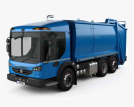 3D model of Dennis Eagle Elite 6 Olympus Refuse Truck 2013
