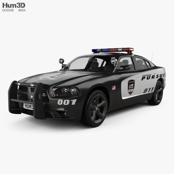 Dodge Charger Police 2011 3D model