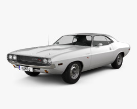 3D model of Dodge Challenger hardtop 1970