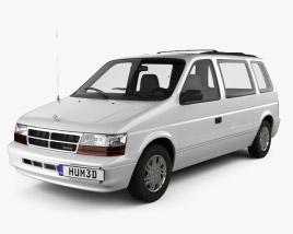 3D model of Dodge Caravan 1991