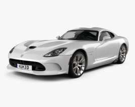 3D model of Dodge SRT Viper GTS 2012