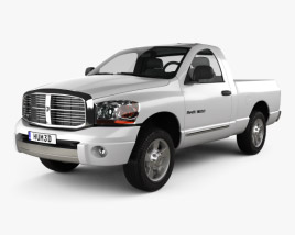 3D model of Dodge Ram 1500 Regular Cab Laramie 120-inch Box 2008
