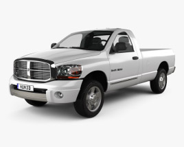 3D model of Dodge Ram 1500 Regular Cab Laramie 140-inch Box 2008